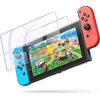 YOSH 2枚入り Nintendo Switch 保護フィルム 気泡なし 簡単に貼れる ガラスフィルム ブルーライト95%カット日本硝子素材 硬度9H 高透過率0.26mm 飛散防止 指紋防止 気泡ゼロ ニンテンドー スイッチ 液晶 画面 保護 シート 2枚