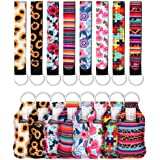 24 Pieces Travel Bottle Keychain Holders Set for Adults and Kids