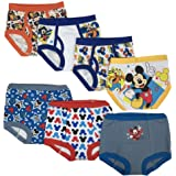 Disney Boys TBUP7288 Mickey 3pk Training Pants & 4pk Briefs Underwear - Multi