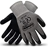 CustomGrips U30 Cut Resistant Work Gloves Level 4 Resistance, Nitrile Coated