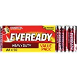 Energizer EVEREADY Heavy Duty, Carbon Zinc, Value AA Batteries 50 Pack, (E30101770)