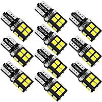 AUXITO T10 LED ホワイト 爆光 10個 LED T10 車検対応 2835LEDチップ14連 12V 車用…