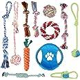 犬 おもちゃ 犬のおもちゃ Ninonly 大中型犬おもちゃ いぬのおもちゃ 犬おもちゃ噛む 犬ロープおもちゃ 犬用おもちゃ ペットおもちゃ犬 犬 歯磨き 丈夫 天然コットン 安全清潔 ストレス解消 耐久性 (12個セット)