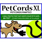 PETCORDS Dog and Cat Cord Protector- Protects Your Pets and Critters from Chewing Through Cables Up to 20Ft XL- Unscented Odo