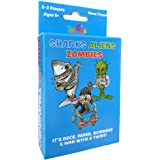 Sharks Aliens Zombies: Fun Card Game for Kids Families Boys Girls Home Travel