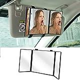 Huicocy Car Visor Mirror, Makeup Travel Vanity Mirror Car Co