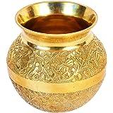 bm metal works Brass Golden Plated Pooja Kalash Lota