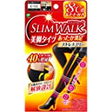 ピップ スリムウォーク (SLIM WALK) 美脚タイツ あったか満足 ストレスフリー L~LLサイズ ブラック おそと用 着圧