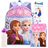 Disney Frozen Backpack Set for Girls Kids ~ Deluxe 16 Inch Frozen Backpack with Lunch Bag and Stickers (Frozen School Supplie