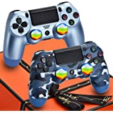 Christmas Wireless PS4 Controller 2 Pack Remote for Sony Playstation 4 - AUGEX Joystick PS4 Remote Control with Gift Box,Grea