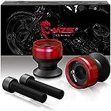 MZS Swingarm Sliders Spools Stand CNC Universal sport-motorcycles 8MM Swingarm Sliders red