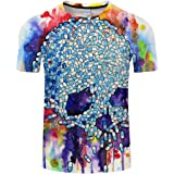 YICHUN Men Women Tops T-Shirt Skull Tees Leisure Camis Casual Wear Blouse Tunic Beachwear Streetwear