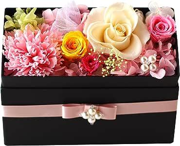 Azurosa(アズローザ) プリザーブドフラワー ギフト ボックス 枯れない花 フレグランスソープ ミックスカラー