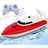 STOTOY RC Boat, 2.4G HZ Electric Mini Speed Boat for Kids & Adults, Remote Control Racing Boats for Pools and Lakes,Outdoor R