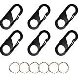 Swatom Stainless Mini Carabiners Key Ring Small Carabiner Clip Keychain Tiny Snap Hook Accessories(6PCS)