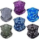 Toes Home 6PCS Outdoor Magic Headband Elastic Seamless Bandana Scarf UV Resistence Sport Headwear Boho Series for Yoga Hiking