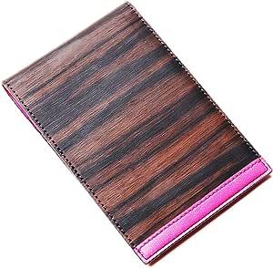 higgie memo holder (s) メモホルダー(S) BLACK×PINK 黒檀・牛革(天然木使用) 20915001