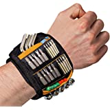 Magnetic Wristband,Tool Belt with 15 Powerful Magnets for Holding Screws, Nails, Drill Bits,Super Strong Magnets Tool Belts U
