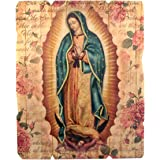 Laser Cut Wood Our Lady of Guadalupe Icon Wall Plaque, 9 1/4 Inch