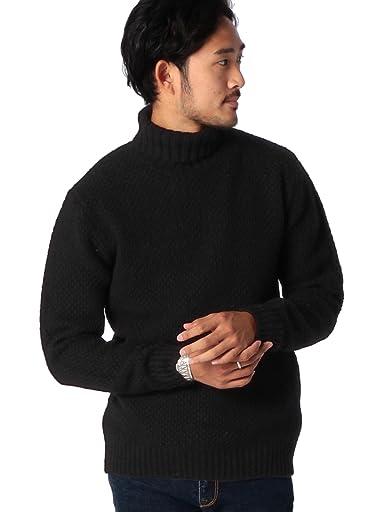 Middle Gauge Turtleneck Sweater 11-15-0544-823: Black