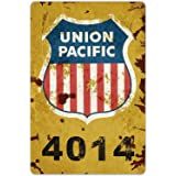 SRongmao Union Pacific Railway Logo Train Railroad Rustic Retro Wall Decor Metal Tin Sign 8x12in