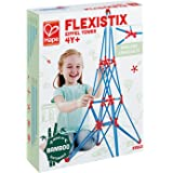 Hape Bamboo Eiffel Tower Building Kit, Safe and Fun Bamboo and Connectors Set - Colorful Construction Builders for Motor Skil