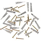 POPETPOP 20pcs Self Drilling Drywall Wall Anchor with Screws Zinc Alloy Drywall Mount Anchors for Hanging Board Pendant Suppl