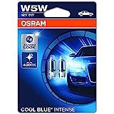 OSRAM 2825HCBI-02B Cool Blue Intense W5W Halogen, License Plate Position Light, 12 V Passenger Car, Double Blister, Set of 2