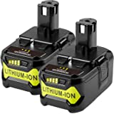2Pack 18v 5.0Ah Lithium-ion Replacement Battery for Ryobi One+ P108 P102 P104 P103 P105 P107 P122 P100 RB18L50 RB18L25 RB18L1