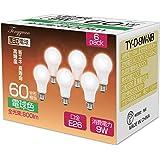 Tengyuan LED電球 E26口金 60W形相当 電球色 9W 一般電球 E26 800ルーメン A60 密閉形器…