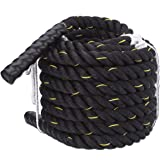 MORO 38MM Diameter Battle Ropes 100% Poly Dacron Heavy Workout Fitness Exercise Conditioning Rope for Strength Training