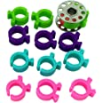 PeavyTailor 12 Thread Bobbin Holders Clips Clamp Great for Embroidery, Quilting and Sewing Thread