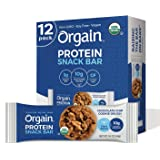 Orgain Organic Plant Protein Bar Chocolate Chip Cookie Dough, 12 count