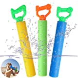 Tinabless Water Guns for Pool Toy, Super Soaker Foam Water Shooter Blaster Set (3 Pack) Outdoor Swimming Pool Summer Fun Part