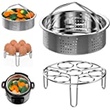Steamer Basket and Egg Steamer Rack, Packism Stainless Steel Vegetable Steaming Trivet Holder Fit 5qt 6qt Instant Pot accesso