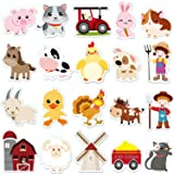 Farm Animals Thick Gel Clings Removable and Reusable Window Clings Decals Stickers for Kids, Toddlers and Adults Home Airplan