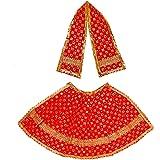 Aditri Creation Diwali Pooja Laxmi Ganesh Dress poshak vastra Cloth lehanga Chunari Dhoti Puja Item Festival decorartion samg