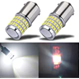 iBrightstar Newest 9-30V Super Bright Low Power 1156 1141 1003 BA15S LED Bulbs with Projector replacement for Back Up Reverse