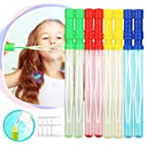 Toy Life Large Bubble Wands and Bubble Wand Party Favors for Kids and Weddings | 8 Pack | Each Bubble Set Contains 4 Colors |