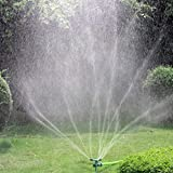 Kadaon Garden Sprinkler 360 Rotating Lawn Sprinkler with up to 3000 Sq. Ft Coverage - Adjustable Weighted Gardening Watering