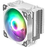 Vetroo CPUクーラー 120mm ARGB LED搭載 PWM自動制御 ヒートパイプ5本 CPUファン 高精度 静音 空冷CPUクーラー Intel/AMD対応 アルミニューム 修理/交換/DIY仕組み V5 CPUクーラー LGA1700対