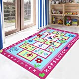 LIVEBOX Hopscotch Kids Play Mat, 3' x 5' Playroom Area Rug Soft Flannel Children Carpet Great for Educational & Fun with Toys