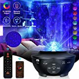 LED Projector Lights, Ocean Wave Star Sky Night Light with Music Speaker,Sound Sensor, Remote Control,360°Rotating Sleep Soot
