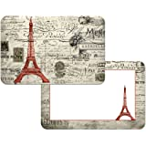 French Eiffel Tower Reversible Washable Vinyl Placemats Set of Four