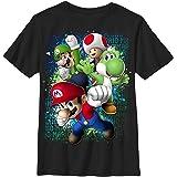 NantionA Mario Friends Jump Men's ComfortSoft Funny Short T-Shirt