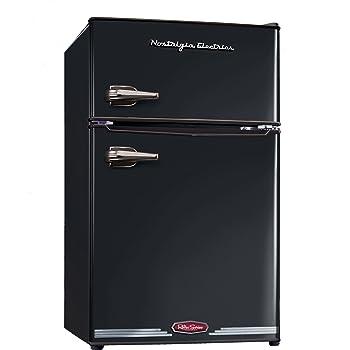 Nostalgia Electrics レトロ冷蔵庫(ブラック)-Refrigerator, Black-【並行輸入品】