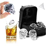 3D Skull Ice Tray Skull Silicone Moulds Dzpuwax Skull Flexible Silicone Ice Cube Mould Tray Skull Ice Moulds for Whiskey Ice
