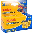 Kodak UltraMax 400 Color Negative Film (35mm Roll Film, 24 Exposures, 3-Pack) - 6034052, Blue,Yellow