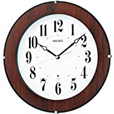 セイコー クロック 掛け時計 電波 アナログ 木枠 茶 木目 KX392B SEIKO