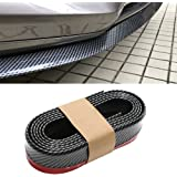 CICMOD 98''/2.5M Universal Front Bumper Spoiler Rubber Skirt Protector Lip for Cars Trucks SUV Black+Red